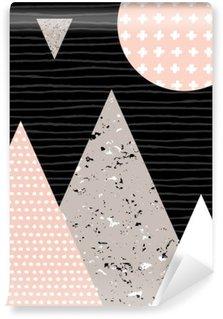 Papier Peint Vinyle Paysage abstrait géométrique