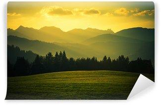 Papier Peint Vinyle Paysage de montagnes
