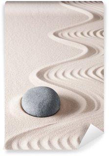 Papier Peint Vinyle Pierre de méditation zen