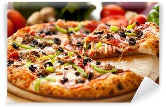 Papier Peint Vinyle Pizza suprême levé la tranche 3