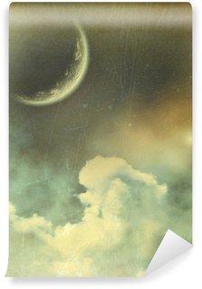 Papier Peint Vinyle Planet in space fond de cru