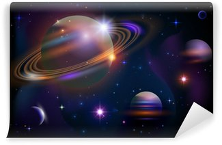 Papier Peint Vinyle Planètes et espace.