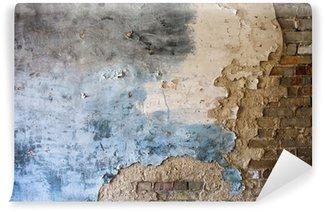 Papier Peint Vinyle Plâtre endommagé sur le mur de briques