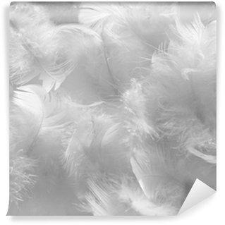 Papier Peint Vinyle Plumes blanches
