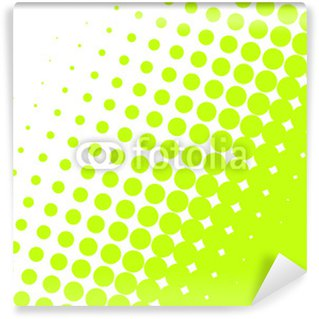 Papier Peint Vinyle POIS VERT FLUO