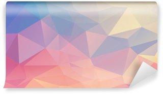 Papier Peint Vinyle Polygone coloré