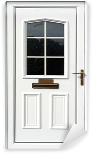 Papier Peint Vinyle Porte d'entrée blanc