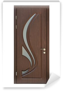 Papier Peint Vinyle Porte intérieure brun