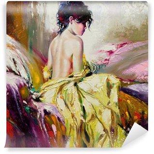 Papier Peint Vinyle Portrait de la fille nue