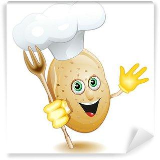 Papier Peint Vinyle Potato Cartoon Cook Cook, BD-Vector