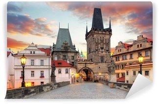 Papier Peint Vinyle Prague, vue depuis le pont Charles