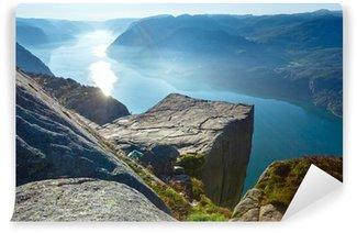 Papier Peint Vinyle Preikestolen massif haut de la falaise (Norvège)