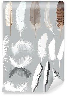 Papier Peint Motif de plumes dessinés à la main • Pixers® - Nous ...