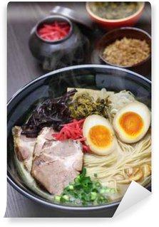 Papier Peint Vinyle Ramen tonkotsu japonais, os de porc nouilles de bouillon