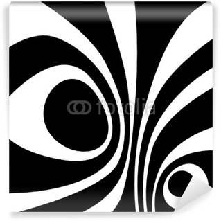 Papier Peint Vinyle Rayé noir et blanc