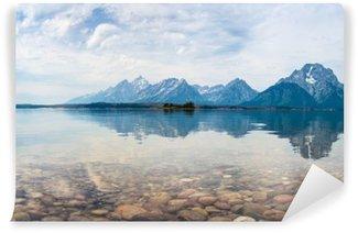 Papier Peint Vinyle Reflets du sommet de la montagne sur le lac