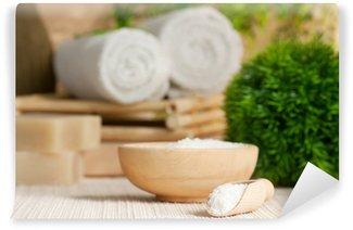 Papier Peint Vinyle Réglage Spa avec bain de sel