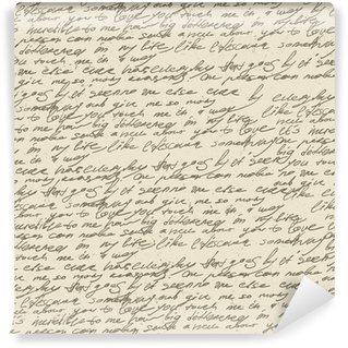 Papier Peint Vinyle Résumé écriture sur le papier vieux millésime. Seamless, vec