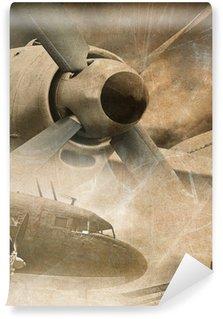 Papier Peint Vinyle Retro aviation, fond de cru