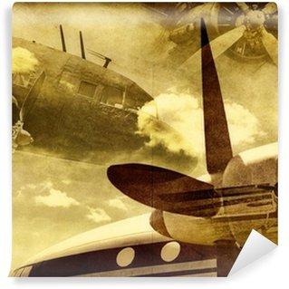 Papier Peint Vinyle Retro aviation