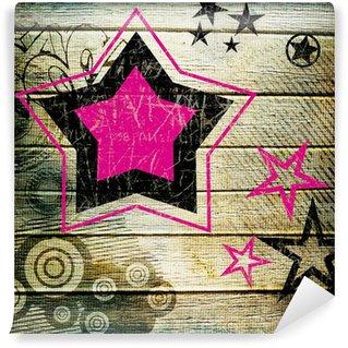 Papier Peint Vinyle Rétro étoiles