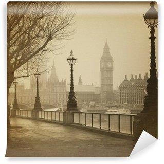 Papier Peint Vinyle Rétro image de Big Ben / Maisons du Parlement (Londres)