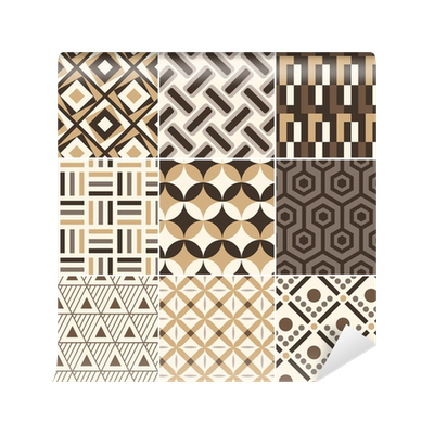 papier peint r tro motif g om trique or transparent pixers nous vivons pour changer. Black Bedroom Furniture Sets. Home Design Ideas