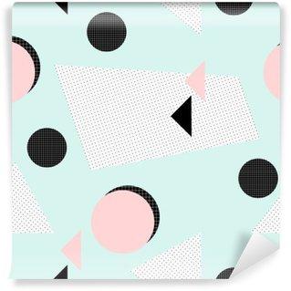 Papier Peint Vinyle Rétro motif géométrique.