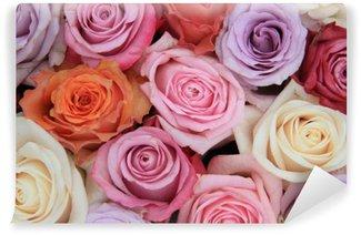 Papier Peint Vinyle Rose pastel fleurs de mariage
