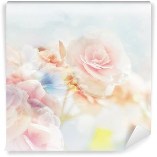 Papier Peint Vinyle Roses romantiques dans le style vintage