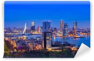 Papier Peint Vinyle Rotterdam au crépuscule de Euromast