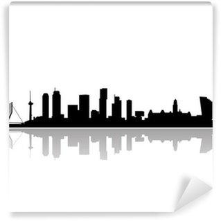 Papier Peint Vinyle Rotterdam toits de la ville vecteur