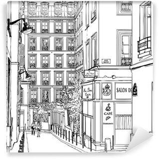 Papier Peint Vinyle Rue près de Montmartre à Paris