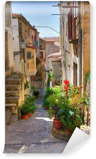 Papier Peint Vinyle Ruelle. Scalea. Calabre. Italie.