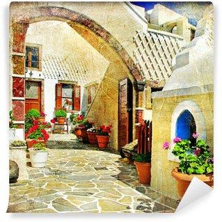 Papier Peint Vinyle Rues picturales de Santorin