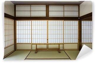 Papier Peint Vinyle Salle de washitsu, Chambre de style japonais avec tatami, Kyoto Japon