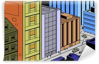 Papier Peint Vinyle Scène Retro Comics Rue