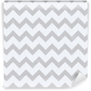 Papier Peint Vinyle Seamless chevron gris