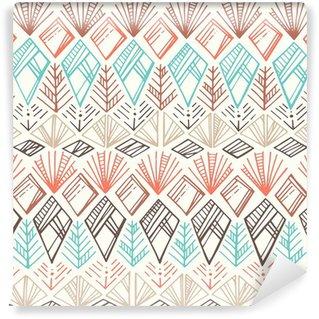 Papier Peint Vinyle Seamless Ethnic Pattern