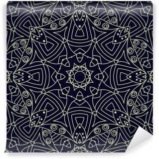 Papier Peint Vinyle Seamless fond ethnique orné.