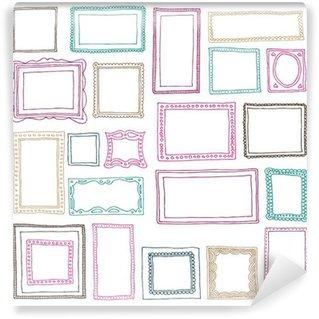 Papier Peint Vinyle Seamless pattern set cadre photo dans le vecteur