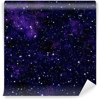 Papier Peint Vinyle Seamless texture simulant le ciel nocturne