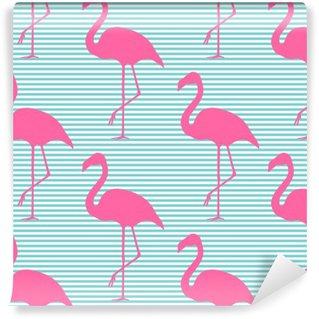 Papier Peint Vinyle Seamless vecteur fond avec des flamants roses. Conception pour la décoration et le tissu