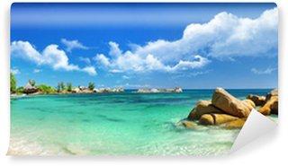 Papier Peint Vinyle Seychelles, beach panorama