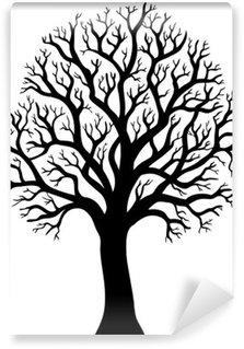 Papier Peint Vinyle Silhouette d'un arbre sans feuille 2