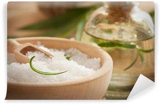Papier Peint Vinyle Spa avec bain de sel et savon