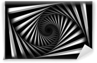Papier Peint Vinyle Spiral noir et blanc