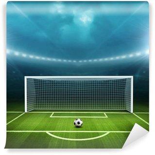 Papier Peint Vinyle Stade avec un ballon de soccer