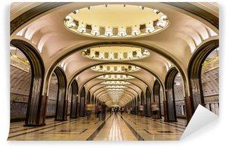 Papier Peint Vinyle Station de métro Mayakovskaya à Moscou, Russie