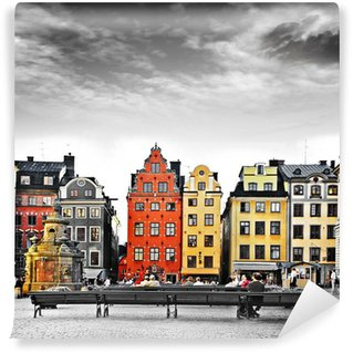 Papier Peint Vinyle Stockholm, le c?ur de la vieille ville,